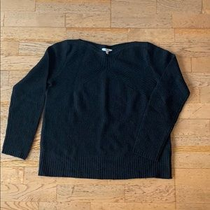 Madewell boatneck black sweater!  SMALL